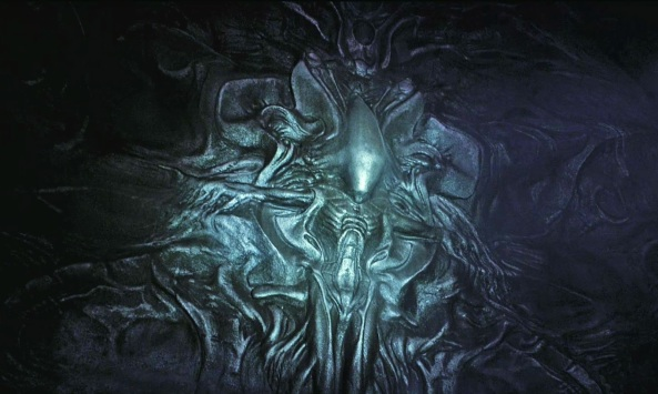 """Alien"" Mural - Detailed (Copyright 20th Century Fox)"