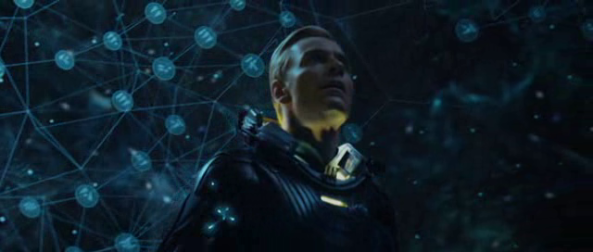David overawed by the starmap - Copyright 20th Century Fox