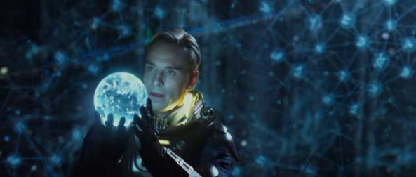 David looks closer at the holographic earth - Copyright 20th Century Fox