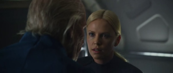 Vickers with her father Weyland - Copyright 20th Century Fox