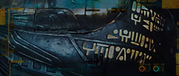 Inscriptions on the hypersleep chamber - Copyright 20th Century Fox
