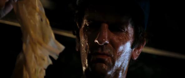 Brett inspecting the Chestburster's shed skin - Copyright 20th Century Fox